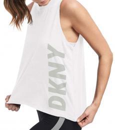 DKNY White Warriors Olivia Logo Tank Top