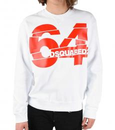 Dsquared2 White Round Necked Sweatshirt