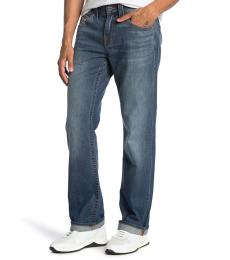True Religion Blue Ricky Straight Leg Jeanss
