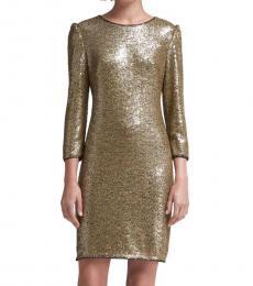 DKNY Golden Sequined Dress