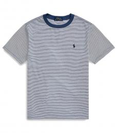 Ralph Lauren Little Boys Federal Blue Striped T-Shirt