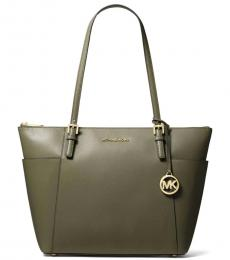 Michael Kors Olive Jet Set East West Large Tote