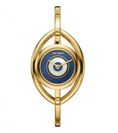 Tory Burch Gold Navy Evil Eye Sophisticated Watch