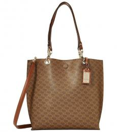 Brown/Khaki Bella Large Tote