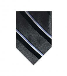Valentino Garavani Black Striped Groovy Tie