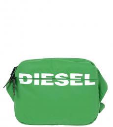 Diesel Light Green F-Bold Large Crossbody Bag