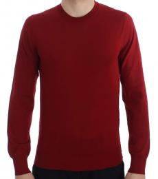 Red Crew Neck Cashmere Sweater