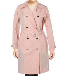 Ralph Lauren Pink Double Breasted Midi Coat
