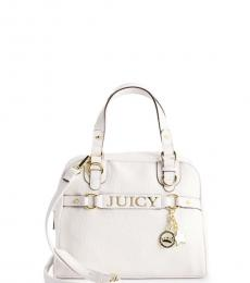 Juicy Couture White Sweet Surrender Dome Small Satchel