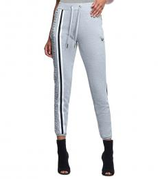 Heather Grey Monogram Stripe Sweatpant