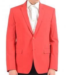 Red Stretch Two Button Blazer