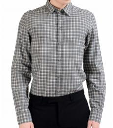 Dolce & Gabbana Grey White Check Dress Shirt