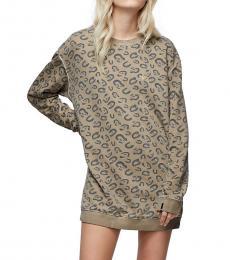 True Religion Charcoal Allover Print Sweatshirt Dress