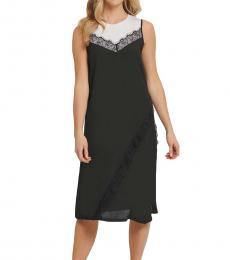DKNY Blackwhite Mixed-Media Sleeveless Dress