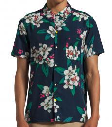 Marc Jacobs Navy Blue Floral Short Sleeve Shirt