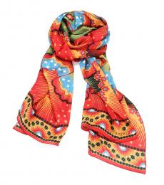 Multi color Volcano Print Scarf