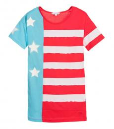 Little Marc Jacobs Girls Red Flag Dress
