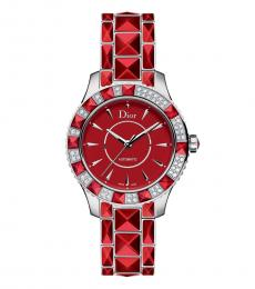 Christian Dior Red Sapphire Christal Time Piece