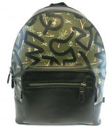 Coach Green West Hula Dance Large Backpack