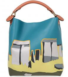 Blue Stonehenge Large Hobo