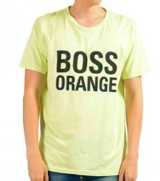 Hugo Boss Neon Green Graphic Slim T-Shirt