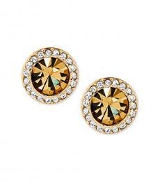 Michael Kors Gold Pave Stud Earrings