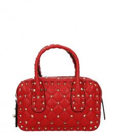 Red Rockstud Mini Satchel