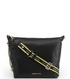 Versace Jeans Black Logo Strap Large Crossbody