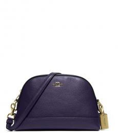 Coach Dark Purple Dome Medium Crossbody
