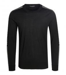 Dolce & Gabbana Black Striped Solid Sweater