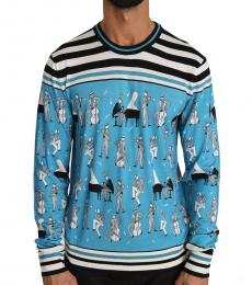 Blue Silk Music Pullover