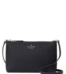Kate Spade Black Joeley Glitter Small Crossbody