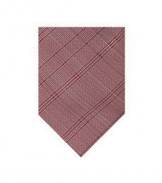 Rose Fine Optic Plaid Tie