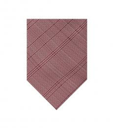 Calvin Klein Rose Fine Optic Plaid Tie