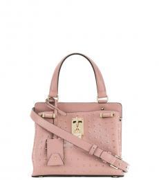 Valentino Garavani Pink Padlock Small Satchel