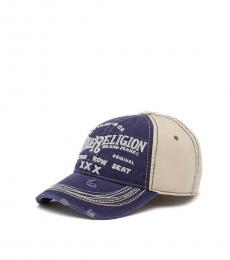 True Religion Navy Triple X Baseball Cap