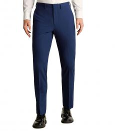 Bright Blue Solid Faile Trousers