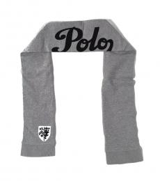 Grey Black Collectable Crest Scarf