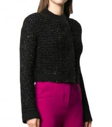 Black Crop Tweed Jacket