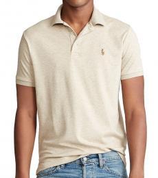 Ralph Lauren Tuscan Beige Custom Slim Fit Polo