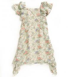 BCBGirls Girls White Floral Ruffle Dress