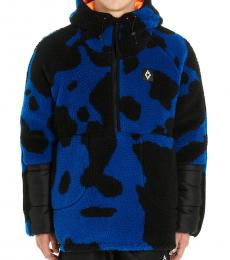 Marcelo Burlon Dark Blue Cross Camo Sweatshirt
