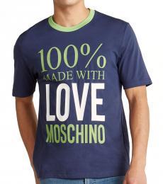 Blue Love Printed T-Shirt