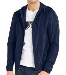 Michael Kors Midnight Hooded Full-Zip Jacket