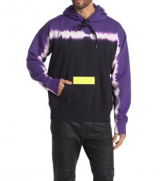 Diesel Dark Purple Alby Tie Dye Pullover