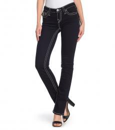 True Religion Dark Blue Billie Flap Pocket Flare Leg Jeans