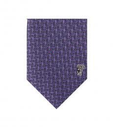 Versace Blue Geometric Silk Tie