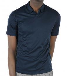 Dark Blue Short Sleeve Polo
