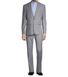 Vince Camuto Light Grey Slim-Fit Wool-Blend Suit