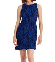 Ralph Lauren Navy/Sapphire Lace Sleeveless Dress